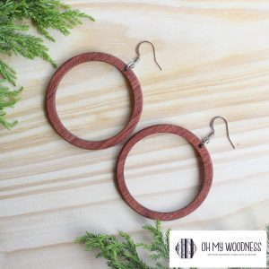 Wooden-earrings-Rosewood-Hoops-large