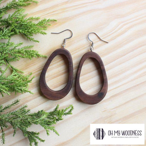 Wooden-earrings-Walnut-Double-Ovals