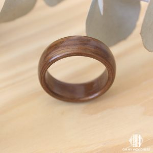 Wooden-ring Imbuia-front-view