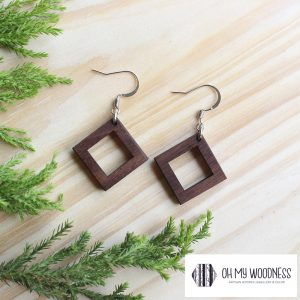 Wooden-Earrings-Walnut-Double-Squares-small