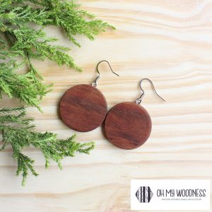 Wooden-earrings-Kiaat-Plain-Circles