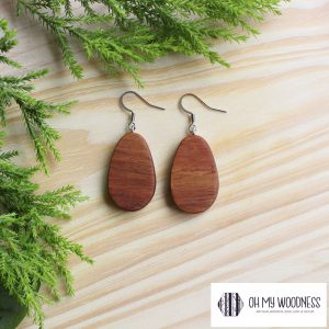 Wooden-earrings---Kiaat-small-flat-ovals