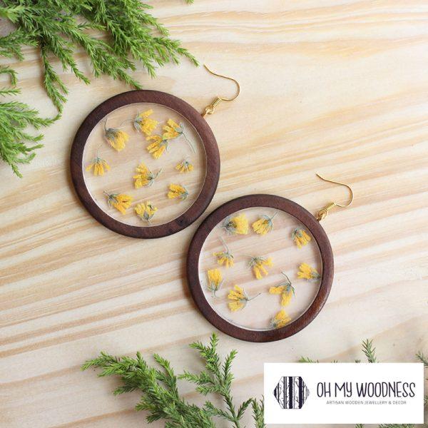 Wooden-earrings-Poplar-Hoops-flower-inlay