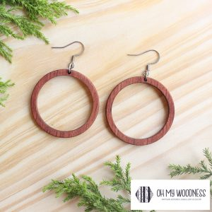 Wooden-earrings-Rosewood-Small-hoops