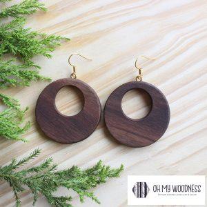Wooden-earrings-Walnut-Double-circles-plain