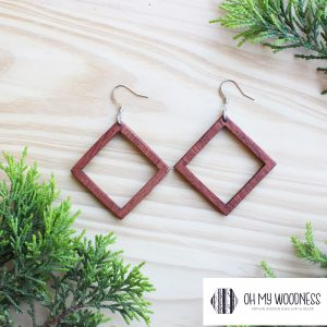 Wooden-Earrings-Rosewood-Double-square