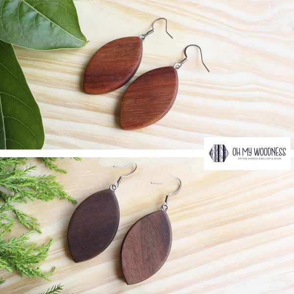 Wooden-earrings-Broad-leave-set