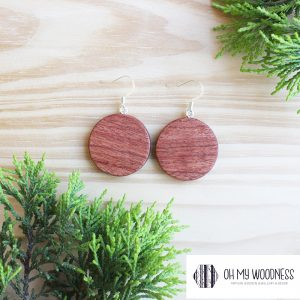 Wooden-earrings-Rosewood-Plain-Circles