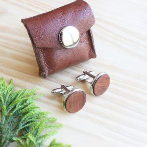 Wooden-cufflinks-Plain-Kiaat