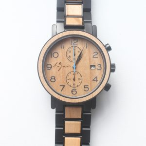 Stainless-steel-and-wood-watch-1